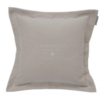 LEXINGTON - Hotel Velvet Sham with Embroidery, Beige