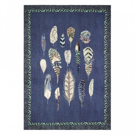 DESIGNERS GUILD - Quill Cobalt Throw